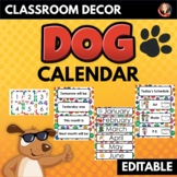 Dog Paws Decor Calendar and Class Schedule Editable