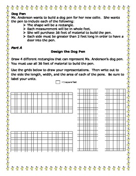 Dog Pen Math Task Grade 5