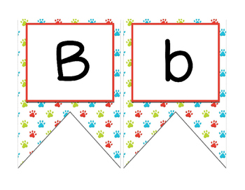 Dog (Pet) themed Bulletin board banner letters