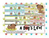 Dog (Pet) themed Desk Nameplates with Cursive and Print alphabet strips
