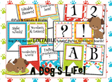 Dog (Pet) themed EDITABLE bulletin board banners