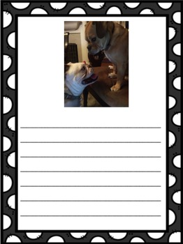 Dog Picture Prompt Writing Center