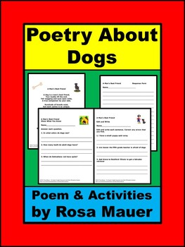 A Man's Best Friend Dog Poem and Activities