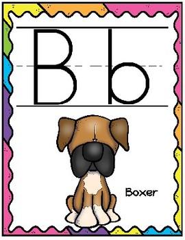 Dog/Puppy Alphabet Set