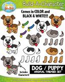 Dog / Puppy Build-A-Character Clipart {Zip-A-Dee-Doo-Dah Designs}