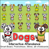 Dog / Puppy Theme Attendance with Optional Lunch Count - Interactive Whiteboards
