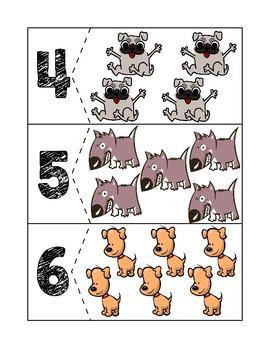 Dog Quantity Puzzles