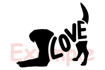 Dog SVG Puppy SVG Pet's paw SVG Doxie Weenie Dog Love 150sv