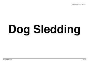 Dog Sledding Term Falshcards