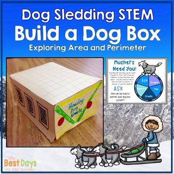 Dog Sledding or Stone Fox STEM:  Create a Dog Box Using Area and Perimeter