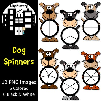 Dog Spinners Clip Art
