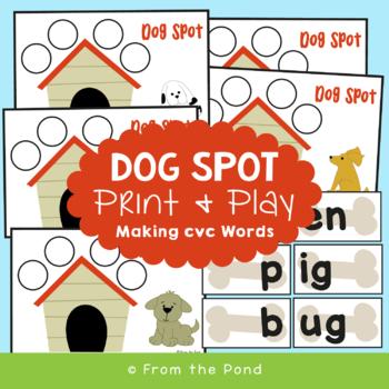 Dog Spot - Center / Activity /  Game to Teach cvc Words