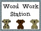 Dog Station Labels for the Classroom