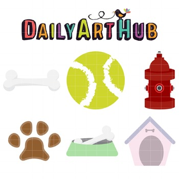 Dog Stuff Clip Art - Great for Art Class Projects!