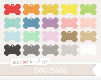 Dog Tag Clipart; Pet, Military, Label
