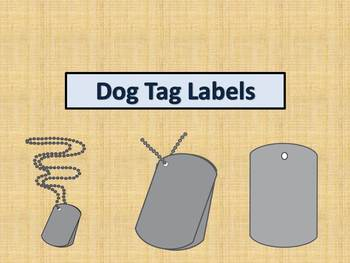 Dog Tag Labels