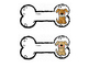 Dog Tags - Dog Bone Style