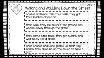 Literacy Center Story Sequencing and Writing Activities--Dog Tales