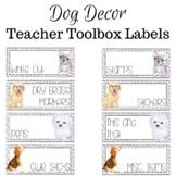Dog Teacher Toolbox Labels (Editable)