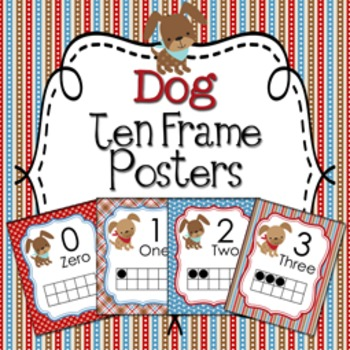 Dog Ten Frame Posters - 0 to 20