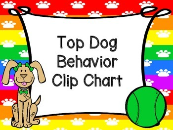 Dog Theme Behavior Clip Chart