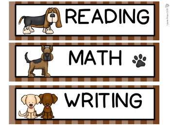 Dog Theme - Classroom Decor