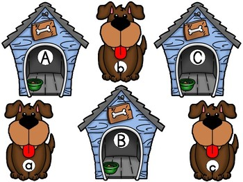 Dog Theme ABC and Beginning Sounds Match