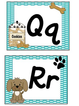 "Dog Theme Alphabet D""nealian"