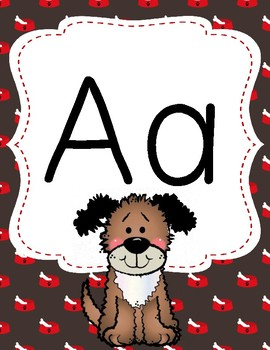 Dog Theme Alphabet Posters