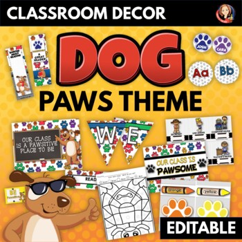 Dog Theme Back to School Decor, Gifts, Activities