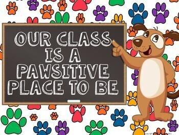 Dog Paws Classroom Decor and Activities