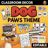 Dog Paws Theme Classroom Decor and Activities