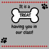 Dog Theme-Back to School Night/Open House/Meet the Teacher Night