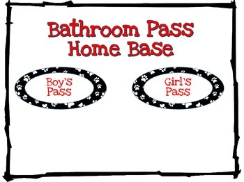 Dog Theme Bathroom Passes