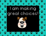 Dog Theme Behavior Management Clip Chart