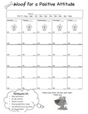 Dog Theme Behaviour Log Sheet