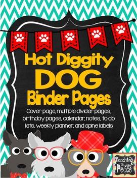Dog Theme Binder Pages *editable*