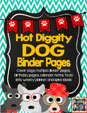Dog Theme Binder Pages *editable*