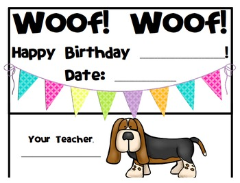 Dog Theme Birthday Board