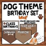Dog Theme Birthday  - Editable- Class Display