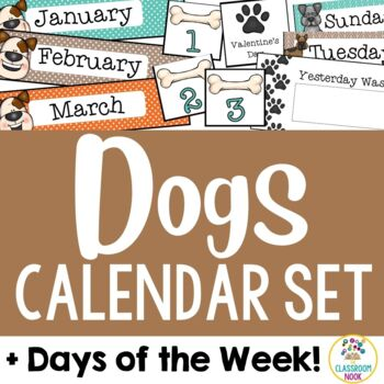 Dog Theme: Calendar Set and Days of the Week Display