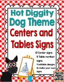Dog Theme Centers and Tables Signs