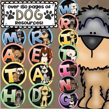 Dog Theme Class Decor Bundle (Behavior Chart, Name Plates, Labels, Signs)