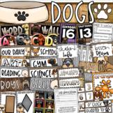 Dog Theme Class Decor Bundle (Posters, Binder Covers, Schedule, Calendar, Jobs)