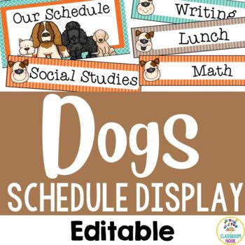 Dog Theme: Class Schedule Display (Editable)