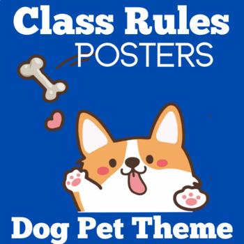 Dog Theme Classroom Decor | Class Rules Kindergarten | Kindergarten Class Rules