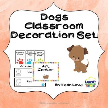 Dog Theme Classroom Decor *Editable!*