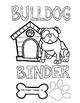 Dog Theme Classroom Decor Editable Binder Covers