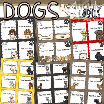 Dog Theme Classroom Labels Decorations Editable Powerpoint