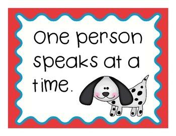 Dog Theme Classroom Rules